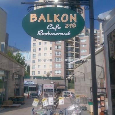 Balkon Cafe direkli ferforje tabela
