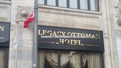 Legacy Ottoman otel Sirkeci Tabela çalışmamız