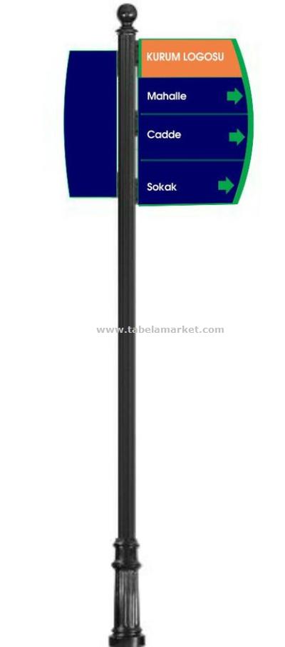 Cadde tabelası Yönlendirme  Tabelaları