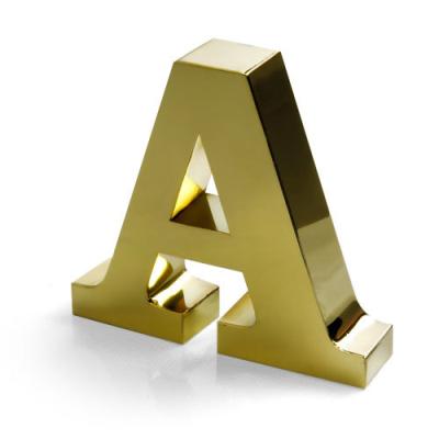 Işıklı gold paslanmaz kutu harf