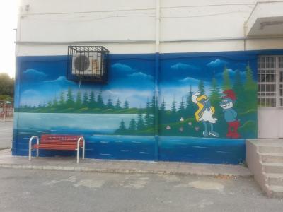 Okul Duvar boyama Örnekleri