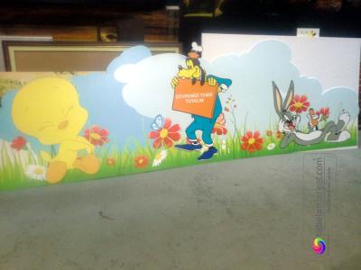 Okul çevresi boyama resim çalışmalarımız