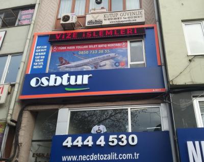 Osb tur Beşiktaş ofis tabelası
