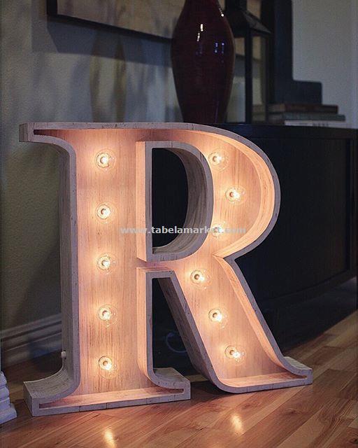 Dekoratif  Ahşap Tabela -  Ahşap Işıklı Kutu harf