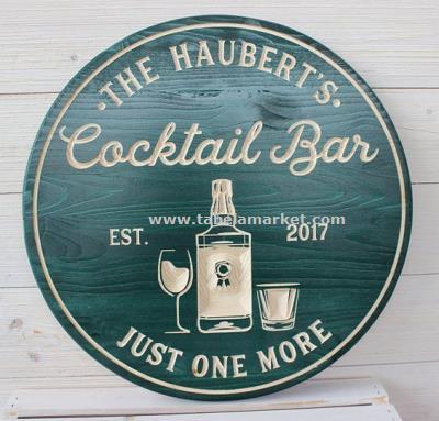 Ahşap Bar tabelası