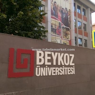 Beykoz Üniversitesi Merkez Kampüs tabela çalışmamız