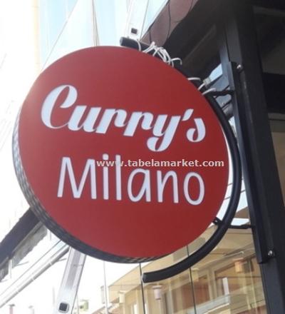 Milano Cafe yuvarlak Tabela