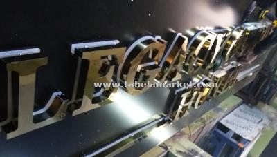 Krom harf ışıklı otel tabelası