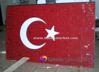Pullu Türk Bayrağı-Pullu Bayrak örnekleri
