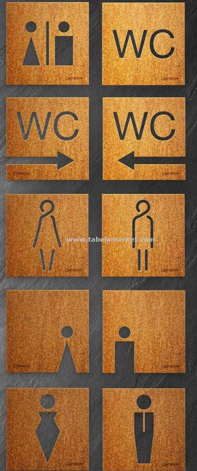 Tuvalet tabelası Eskitme wc Tabelaları
