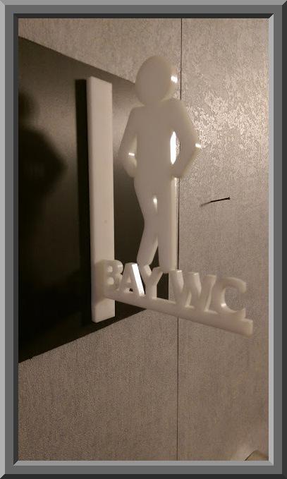 Erkek Tuvalet tabelası