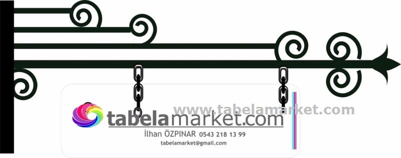 motifli tabela askı demiri